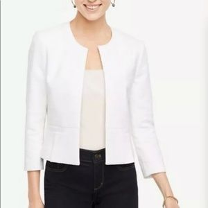 Ann Taylor Open Blazer Jacket White Size Medium